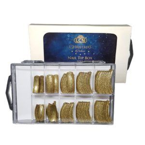 89570 Christmas Deluxe Tip Box, Gold, 10 sizes x 10 pieces